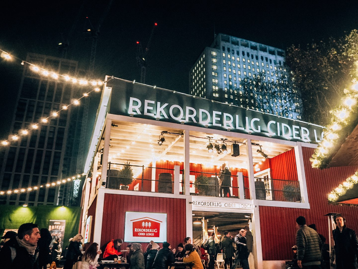 Outside Rekorderlig Cider Lodge