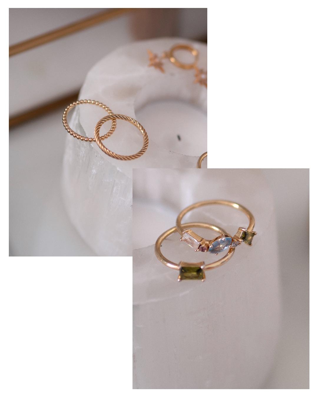 Wanderlust + Co Kaia Gold Ring Set